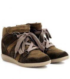 Isabel Marant - Bluebel suede wedge sneakers - mytheresa.com GmbH