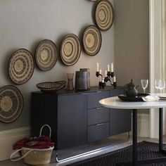 Design Trend: Baskets As Wall Decor by Jeanine Hays on @HGTV. Image via Living Etc.