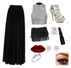 """""""Prom"""" by ehack on Polyvore featuring Topshop, Elie Saab, Celeste, White House Black Market, Smashbox, Kate Spade, River Island, women's clothing, women's fashion and women"""