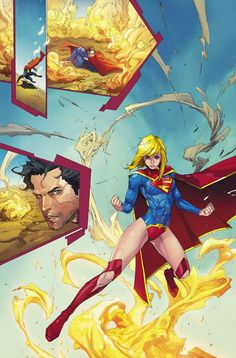 Superman and Supergirl by Kenneth Rocafort Ms Marvel, Marvel Dc Comics, Batgirl, Supergirl Dc, Dc Comics Characters, Dc Comics Art, Clark Kent, Dc Anime, Manga Anime