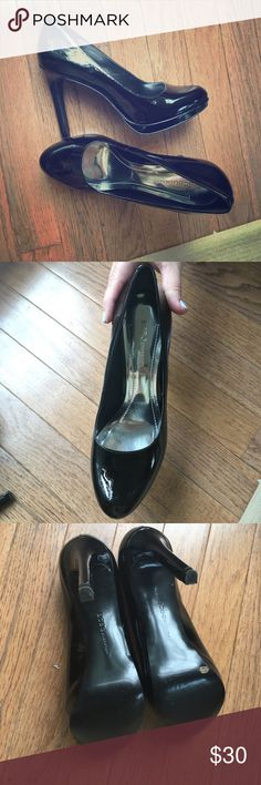 BCBGeneration patent leather black pump BCBGeneration black patent leather pump, worn once. These shoes are great for business work attire, but also super cute dressed up for going out! Purchased at Nordstrom. BCBGeneration Shoes Heels