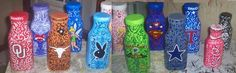 Assorted creamer bottles