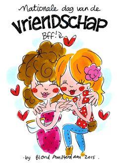 Blond Amsterdam, Leiden, Character Illustration, Digital Illustration, Rotterdam, Bff, Bestfriends, Pretty Quotes, Friendship Quotes