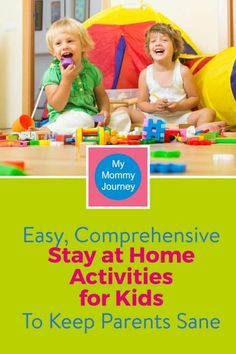 Kids are stuck at home. They are bored. You need easy, comprehensive stay at home activities for kids to entertain them and to keep yourself sane!