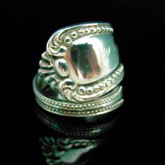Sterling Silver Spoon Ring  Antique Silverware by MarchelloArt