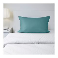 IKEA - GÄSPA, Pillowcase, Queen, , Sateen-woven bed linen in cotton is very soft and pleasant to sleep in, and has a pronounced luster that makes it look beautiful on your bed.The combed cotton gives the bed linen an extra smooth and even surface which feels soft against your skin.