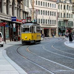 Alte Straßenbahn #hallesaale