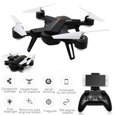 LeXiang 803 Foldable Mini Rc Selfie Drone 2.4G 6 Axis Gyro WiFi FPV Drone 0.3MP Camera Altitude Hold Headless Mode RC Quadcopter //Price: $78.52 & FREE Shipping //     #hashtag1