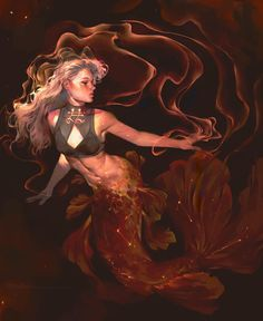 Twine of Cinnabar by Vetyr on DeviantArt Goddess Art, Mermaid Art, Character Design Inspiration, Story Inspiration, Pretty Art, Fantasy Characters, Tokyo Ghoul, Art Inspo, New Art