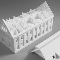 gedrucktes architektonisches Modell des Gründerhauses in Berlin House Layout Design, House Layouts, Berlin, Building Layout, 3d Modelle, Use Case, Architecture Plan, Modern Contemporary, 3d Printing