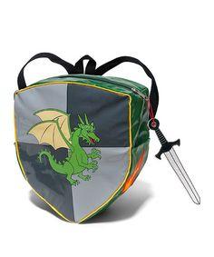 Kidorable Gray Knight Shield Backpack   zulily