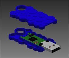 Design a USB Pen using Autodesk Inventor - Cut it out of Lego?...$Million idea here peeps
