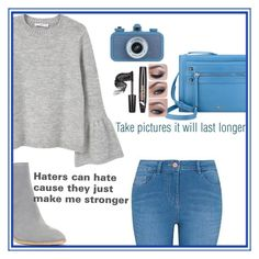 """""""Haters outfit"""" by anna-bigsis ❤ liked on Polyvore featuring MANGO, George, Nine West and Donald J Pliner"""