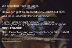 20% auf alles im Onlineshop. Bis Ende November. http://stoffausfrankfurt.bigcartel.com