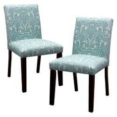 Dining Chair: Seedling by Thomas Paul Uptown Dining Chair - Briar Aqua (Set of 2)