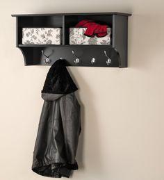 Black 36inch Wide Hanging Entryway Shelf – Wholesale Furniture Brokers