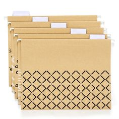 Amazon.com : YOMA Hanging File Folders, Reinforced 1/5-Cut Tab, Letter Size, 25 Pack, Brown : Office Products