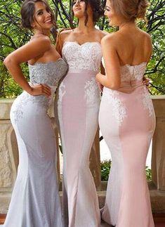 Lace bridesmaid dresses,  chiffon bridesmaid dresses, Custom bridesmaid dresses,Fishtail dress,Off the shoulder dress