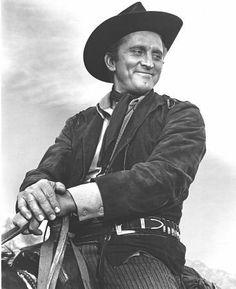 "Kirk Douglas while filming ""Along The Great Divide"" 1950 Warner Bros."