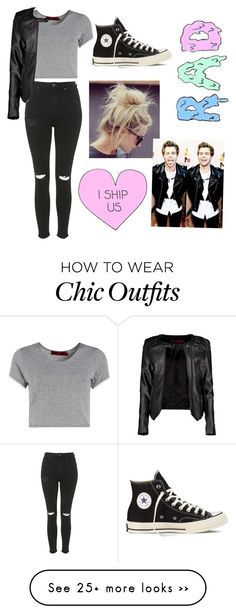 """Untitled #51"" by jacqueline-sanchez on Polyvore featuring Boohoo, Topshop and Converse"