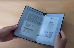 This foldable electronic ink display can also take notes...