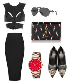 Anita by natashajovic on Polyvore featuring polyvore, fashion, style, Fleet Ilya, Posh Girl, Versace, Yves Saint Laurent, Marc by Marc Jacobs and clothing