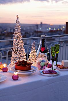 Christmas party for two, on a balcony in Paris would be lovely.