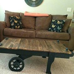 End table side table rustic furniture reclaimed wood Rustic Side Table, Rustic Coffee Tables, Wood End Tables, Reclaimed Wood Furniture, Rustic Furniture, Industrial Furniture, Vintage Industrial, Rustic Serving Trays, Cart Coffee Table