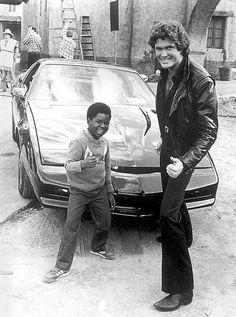 Arnold et David Hasselhoff, 2 icônes de séries des années 80 #mode #style #look #series #annees80 #vintage #fashion #80s