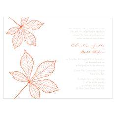Fall Wedding Invitations - Festively Autumnal