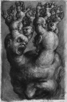 "Paul Rumsey, ""Cabeza ramificada / Branching Head"", 102 x 65 cm., 2002"
