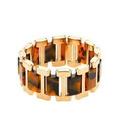 J.Crew Golden-link tortoise bracelet