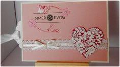 Einladung für eine Hochzeit, gestaltet mit Stampin up