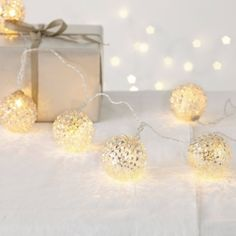 Pinecone Bauble Fairy Lights from The White Company