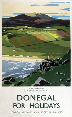 Ireland - Donegal - Sheephaven LMS poster, 1923-1947. Norman Wilkinson.