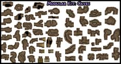 Heroic Maps - Modular Kit: Caves - Heroic Maps | Caverns & Tunnels | Dungeons | Wilderness | Modular Kits | DriveThruRPG.com