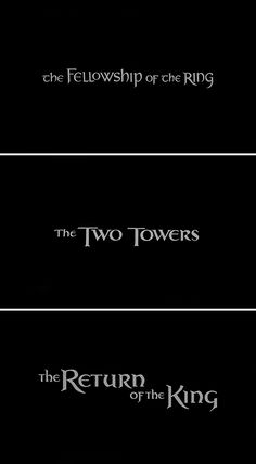 the lord of the rings film trilogy + titles