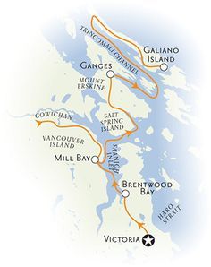 Victoria, Vancouver and Gulf Islands Multisport Map