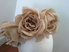 Lina stein millinery gorgeous silk flower in a giant size judithm handmade silk flowers for a beautiful bride on her wedding day let mightylinksfo Gallery