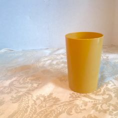 Vintage Therma-Glass Yellow Tumbler by vintagepoetic on Etsy