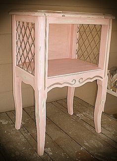 SOLD Small Nightstand Bedside Table Vintage by CottonwoodRanch, $110.00