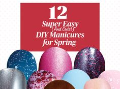 12 Cool Manicures You Can Easily Do Yourself - Nail polish should be fun… but it shouldn't necessitate two hours and a set of fancy brushes to get a glamorous, artsy effect. These new special formulas take just a swipe or two, a steady-ish hand, and a reason to shine.
