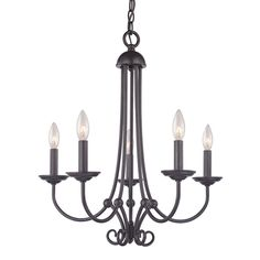 Shop Westmore Lighting Weatherly 5-Light Oil Rubbed Bronze Chandelier at Lowes.com