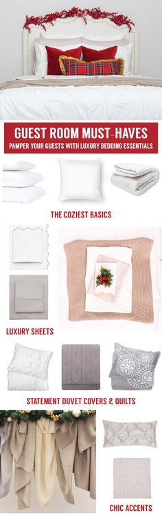 From chic bedding and beautiful statement duvet covers, find the luxury bedding for your guest room. Named the best site for bedding by HGTV.