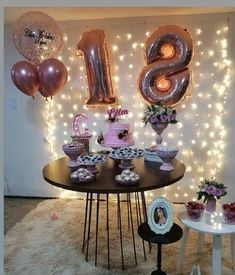 18th Birthday Party Themes, Simple Birthday Decorations, Harry Birthday, Sweet 16 Decorations, Birthday Goals, Birthday Girl Pictures, Birthday Balloons, Instagram, Balloon Decorations Party