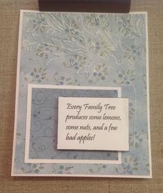 Family tree note card. $5.50