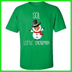 Sol Little Snowman Christmas - Adult Shirt Xl Irish-green - Holiday and seasonal shirts (*Amazon Partner-Link)