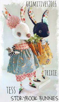 Original Cloth Art Dolls made on beautiful Cape Cod by Kaf Grimm