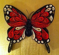 Quilling - Details of Monarch butterfly by Canan Ersöz.