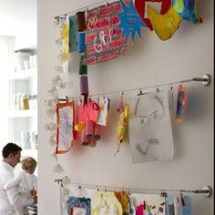 Artwork/craft display .... Kids corner